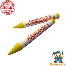 Hancocks Yellow Wax Universal Marking Pencils - 50 Box
