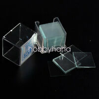 Microscope Slide Cover Slips 1 Boxes of 100 14mm x 14mm Square Cover Glasses
