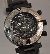 New Mens Invicta Cruise Line Subaqua Swiss Chronograph Skeleton Black Dial Watch