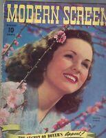 Modern Screen Magazine August 1940 Deanna Durbin Jackie Cooper Joan Fontaine