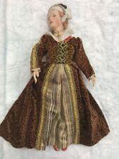 """Kathy Redmond Porcelain Doll Catherine Parre 13"""" Exquisite Rare"""