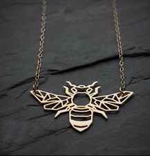Origami Geometric BEE Necklace. Honeybee Jewellery.