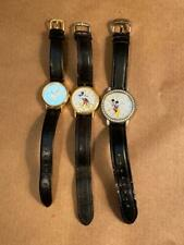Vintage Disney MICKEY MOUSE Watch Lot of 3: Lorus Hologram Bezel Untested