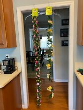 2 Artificial Floral Garlands-6 Ft. Long- New with Tags