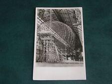 ORIGINAL REAL PHOTO POSTCARD - HINDENBURG LZ129 - BEING CONSTRUCTED.