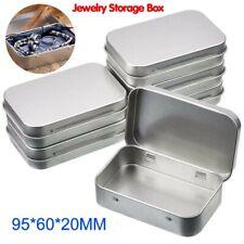 Organizer Small Tin Empty Case Jewelry Coin Candy Keys Metal Storage Box HI