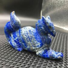 Natural Lapis Lazuli Crystal Quartz Carved Griffin Healing Specimen Decoration