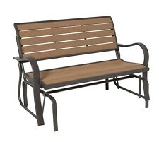 Outdoor Glider Bench Lifetime 60055 4 Feet Faux Wood Patio Free Shipping NEW