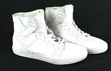 Supra Skytop Muska 001 Men's White Sz 10 shoes Hightop skate shoes ankle supt