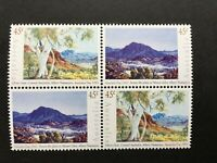 Australian Decimal Stamps 1993 Australia Day Paintings Se-Tenant Block 4 MNH