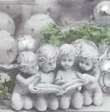 2 Serviettes en papier Anges lisant - Paper Napkins Angel Storyteller