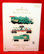 HALLMARK MINIATURE ORNAMENT 2008 LIONEL HOLIDAY RAILROAD TRAIN  SET