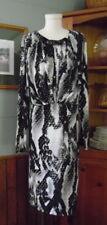 NWT Jones NY Collection Woman Dress 2X Reptile Print Blk/Gray Jeweld Neck $149