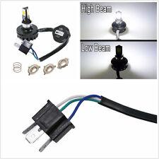1*12V BA20D H4 H6 COB LED Motorbike Headlight Hi/Lo Beam Bulb Fog Lamp DRL 6000K