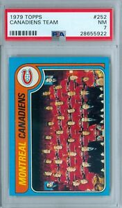 MONTREAL CANADIENS 1979 TOPPS #255 PSA 7