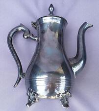 ANCIENNE CAFETIERE EN METAL ARGENTE E.P.N.S.  (860GRS)