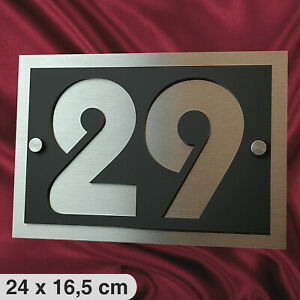 Hausnummer Anthrazit RAL 7016 V2A Edelstahl Hausnummernschild  3D Design Ziffer