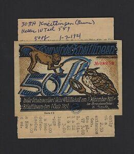 Germany 50 Pfg Notgeld 1921
