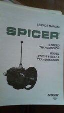 Spicer Service Manual 5 Speed Transmission Model ES62-5 & ES67-5 Form # 2371
