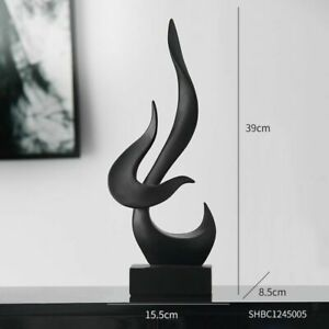 Fire Abstract Sculpture Resin Statue Modern Home Office Living Room Decoration