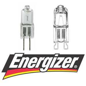 Energizer Halogen G4 G9 Bulbs Capsules 16w = 20w 33W = 40W WATT 2700k Warm White
