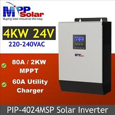 24v 5kva 4000w Solar inverter 80A MPPT solar charger 60a battery charger