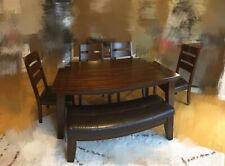 Dinner Tabel Set Table And Chairs Dark Brown Retail $1100 Local Pickup Only
