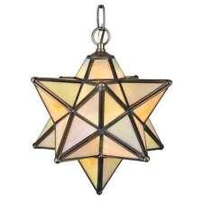 Meyda Lighting 12'W Moravian Star Beige Iridescent Pendant, Bai - 12133