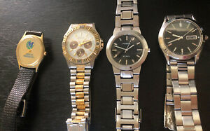 Fossil , Seiko, Elgin and no brand , Lot of 4 used watches