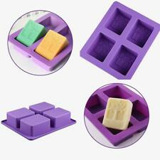 4-cavity Rectangle Tree Soap Mold Cake Mold Silicone Resin Chocolate Mould New