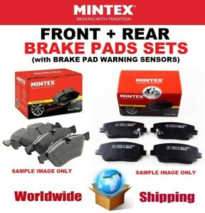 MINTEX FRONT + REAR Axle PADS + SENSORS for BMW 5 (E39) 525 i 2000-2002