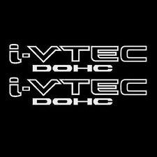 [#40] 2x White i-VTEC DOHC Vinyl Decal Stickers Emblem Honda Acura ivtec