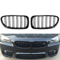 Gloss Black For BMW F10 F11 F18 5 Series M5 Kidney Grill Racing Grille Dual Slat