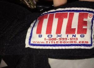 """Vintage TITLE MMA BOXING Competition 177"""" Wraps, Red Signature Logo 