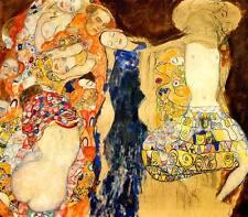 Die Braut Jugendstil Secession Erotik unvollendet Bütten Gustav Klimt A3 036