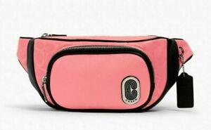 New Coach 1685 Court Belt Bag in Signature Nylon Pink Lemonade