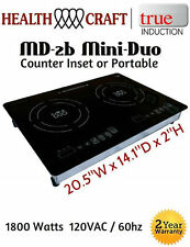 True Induction MD-2B Mini Duo Double Burner - Counter Inset or Portable 110vac