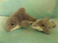 "Beautiful Soft 7"" Dolphin & Baby Calf Plush Toys - Christmas Presents"