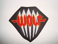 WOLF - LOGO Embroidered PATCH Enforcer Skull Fist Hell Cauldron White Wizzard
