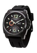 Jorg Gray JG1040-18 Men's Watch Black/Green Retrograde Dual Time Japan Movement