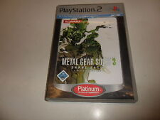PLAYSTATION 2 PS 2 Metal Gear Solid 3: Snake Eater PLATINUM [] (2)