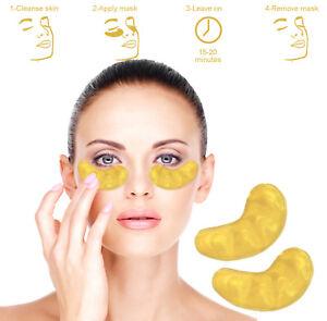 24k Gold Under Eye Gel Mask Collagen Anti Ageing Wrinkle Bag 1/20 pair