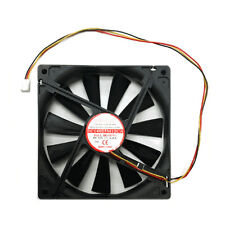 Evercool 140mm x 25mm Med Speed 12V Case Cooling Fan 3wire 3 pin EC14025M12CA