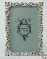 "Olivia Riegel Princess Picture Photo Frame with Swarovski® crystals stones 4x6"""