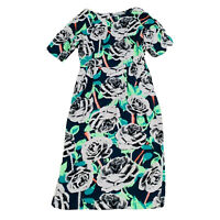 Asos Women's Shift Knee Length Floral Dress Size 14