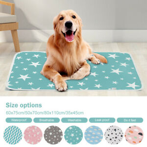 UK Waterproof Pet Bed Pad Pets Dog Puppy Pee Pads Mat Cushion Washable Reusable