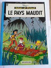 1x Comic - Johan & Pirlouit - Le Pays Maudit von 1973 (Nr. 12 - Franzözisch)