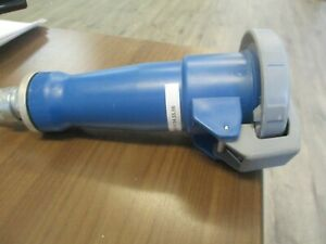 Hubbell Connector 460C9W 60A 250V 3Ph Conduit End Used