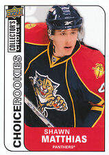 08-09 UPPER DECK COLLECTORS CHOICE ROOKIE RC #226 SHAWN MATTHIAS PANTHERS *3029