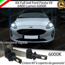 KIT FULL LED H7 FORD FIESTA MK7 6000K XENON BIANCO ANABBAGLIANTI 64000 LM 60W